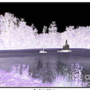 Worlds Smallest Chapel Church Negative Inverted Image Art Print
