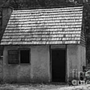 Wormsloe Cottage In Black And White Art Print