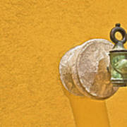 Worn Brass Spigot  Of Medieval Europe Art Print