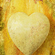 Worn Heart Art Print