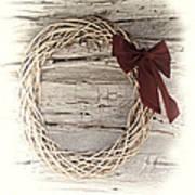 Woven Reed Wreath Art Print by Linda Phelps