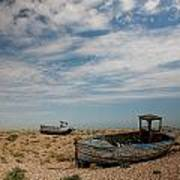 Wrecked Boats Dungeness Art Print