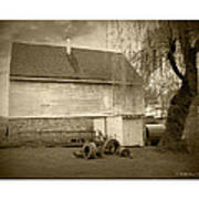 Wye Mill - Sepia Art Print
