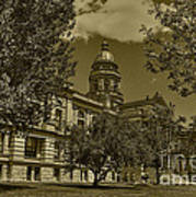 Wyoming Capitol Art Print
