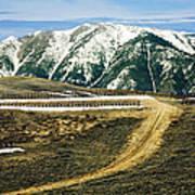 Wyoming Road Art Print