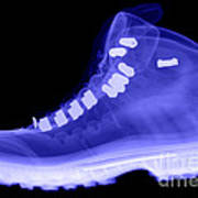 X-ray Of A Hiking Boot Art Print