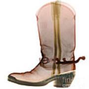 X-ray Of Cowboy Boot Art Print