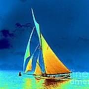 Yacht Gloriana 1891 Art Print
