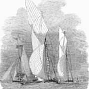 Yacht Race, 1855 Art Print