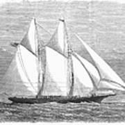 Yacht: Sappho, 1868 Art Print