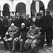 Yalta Conference, 1945 Art Print