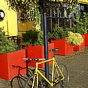 Yellow Bicycle Vancouver Canada Art Print