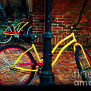 Yellow Bike Art Print