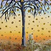 Yellow-blossomed Wishing Tree Art Print