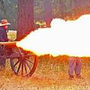 Yellow Cannon Flames  Art Print