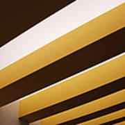 Yellow Ceiling Beams Art Print