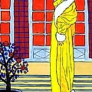 Yellow Coat Art Print
