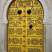 Yellow Door In Bardo Art Print