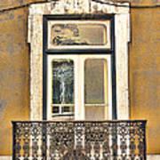 Yellow Facade And Window Art Print