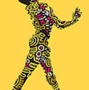 Yellow Haring Art Print