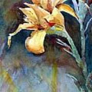 Yellow Iris Print by Alan Smith