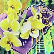 Yellow Orchids Of The Heart Art Print