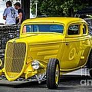 Yellow Rod Art Print