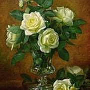 Yellow Roses Art Print by Albert Williams