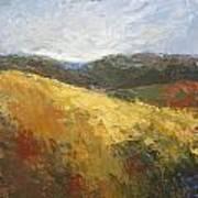 Yellow Slope II Art Print