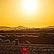 Yellow Sun Art Print
