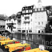 Yellow Tablecloths Art Print