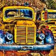 Yellow Trucks Art Print
