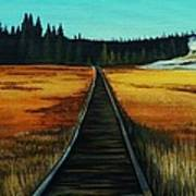 Yellowstone Boardwalk Art Print