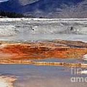 Yellowstone National Park Geothermal Reflections Art Print