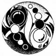Yin And Yang Fish Design Art Print