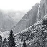 Yosemite Falls In Winter Art Print
