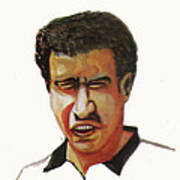 Younes El Aynaoui Art Print by Emmanuel Baliyanga