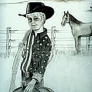Young Cowboy Art Print by Carolyn Ardolino