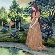 Young Girl In A Garden  Art Print