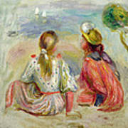 Young Girls On The Beach Art Print