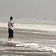 Young Man And The Pacific Ocean Art Print