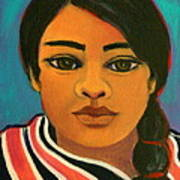 Young Mexican Girl Art Print
