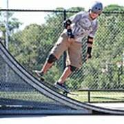 Young Skateboarder Art Print