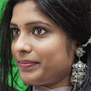 Young Woman India Day Parade Nyc 2012 Art Print