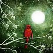 Yuletide Cardinal Art Print