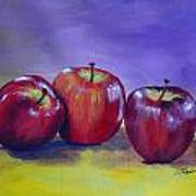 Yummy Apples Art Print