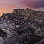 Zabriske Sunset Art Print