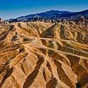 Zabriskie Point Badlands Art Print