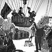 Zakharov's Balloon Flight, 1804 Art Print by Ria Novosti