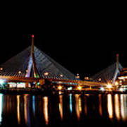 Zakim Over The Charles River Art Print by Richard Bramante